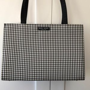Vintage gingham box shoulder bag